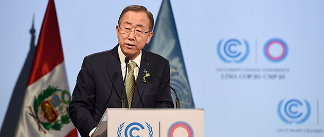 Environmentalists have criticised the agreement reached at the UN climate talks in Lima because it is missing concrete targets to reduce emissions. (Photo credit: H.E. Mr. Sam K. Kutesa, flickr)