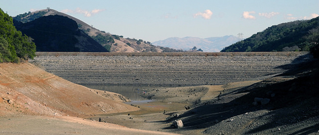 Images such as this near-empty reservoir in California could become commonplace if the US fails to take action to avert a mega-drought. (Photo credit: Ian Abbott, flickr)