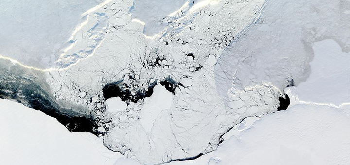 Scientists have uncovered the melting process for the Filchner-Ronne shelf in Antarctica. Unlike other ice shelves, it reacts linearly to ocean warming. (Photo credit: NASA Visible Earth)