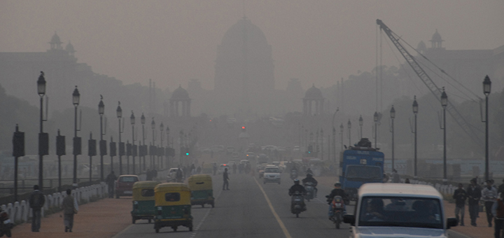 The Indian capital taking the war against smog up a level by regulating the approval of diesel vehicles on the streets of New Delhi. (Image credit: Mark Danielson, flickr)