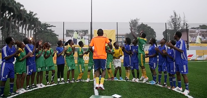 Human kinetic energy is now being used in Nigeria to generate electricity. This model could one day be used in schools across Africa. (Image credit: screenshot Pavegen video)