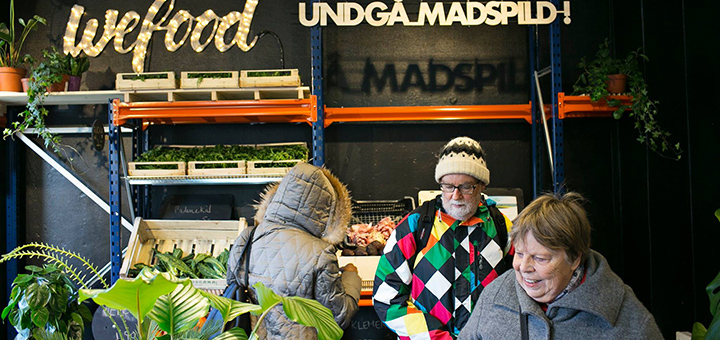 A Danish supermarket sells surplus produce from other retailers in the battle against food waste. (Image credit: WeFood/Facebook)