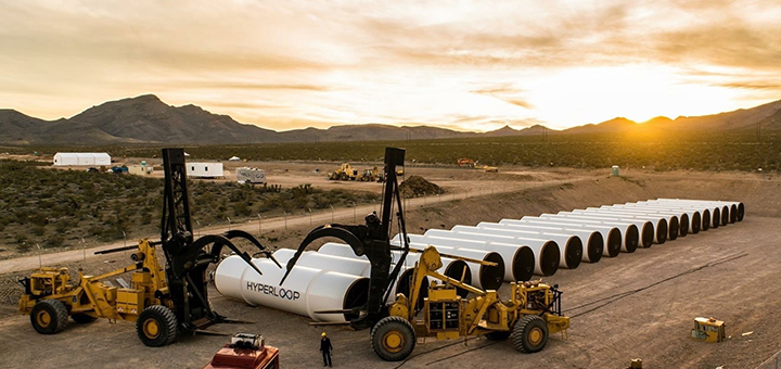 The Hyperloop project envisages transporting passengers through a vacuum tunnel three times faster than conventional high-speed trains. (Image credit: Hyperloop One)