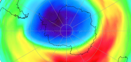 The Montreal Protocol banning the use of CFCs has been effective: the ozone hole over the Antarctic could fully heal by mid-century. (Image credit: DLR)